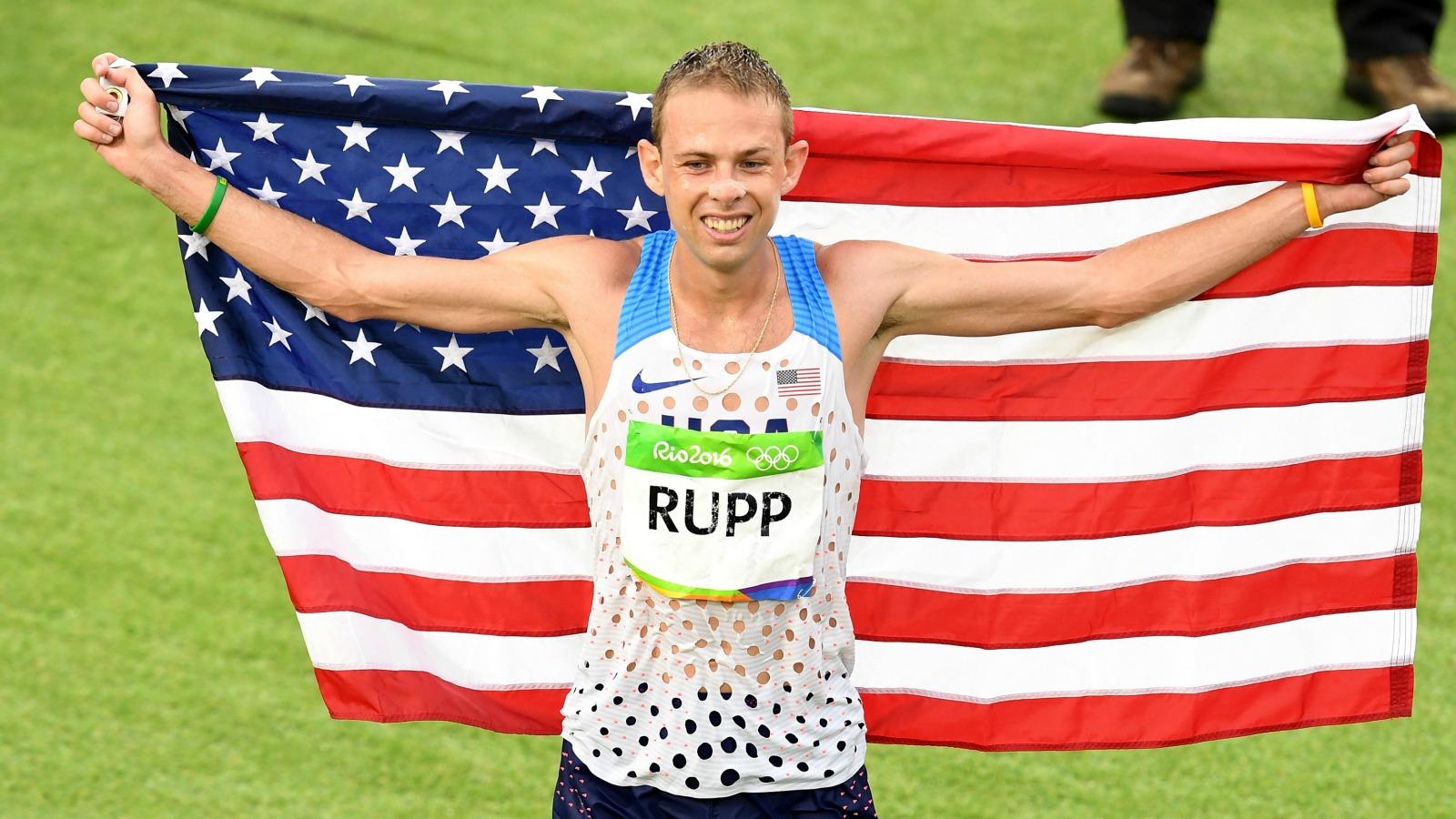 U.S. runner Galen Rupp took bronze in just his second marathon