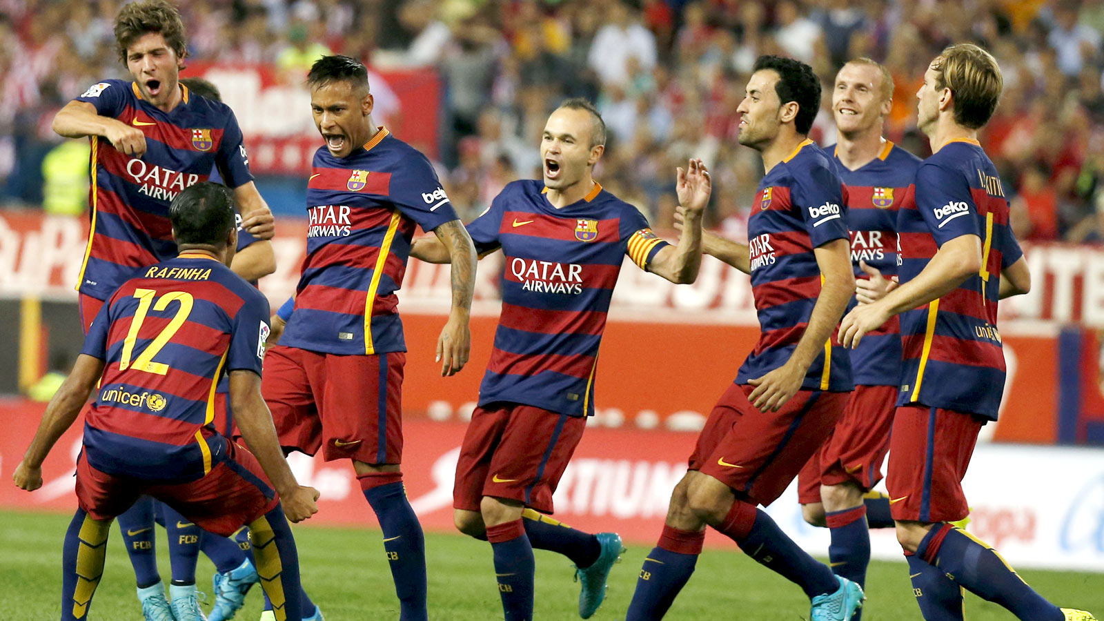 Messi, Neymar lead Barcelona past Atletico to La Liga summit