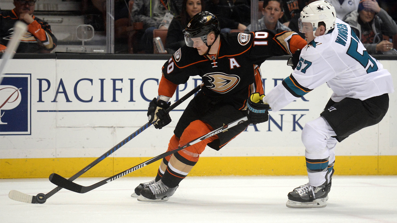 Paths of Pacific Division powers Ducks, Sharks merge again Tuesday night