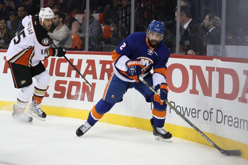 New York Islanders Nick Leddy Out Early With Injury