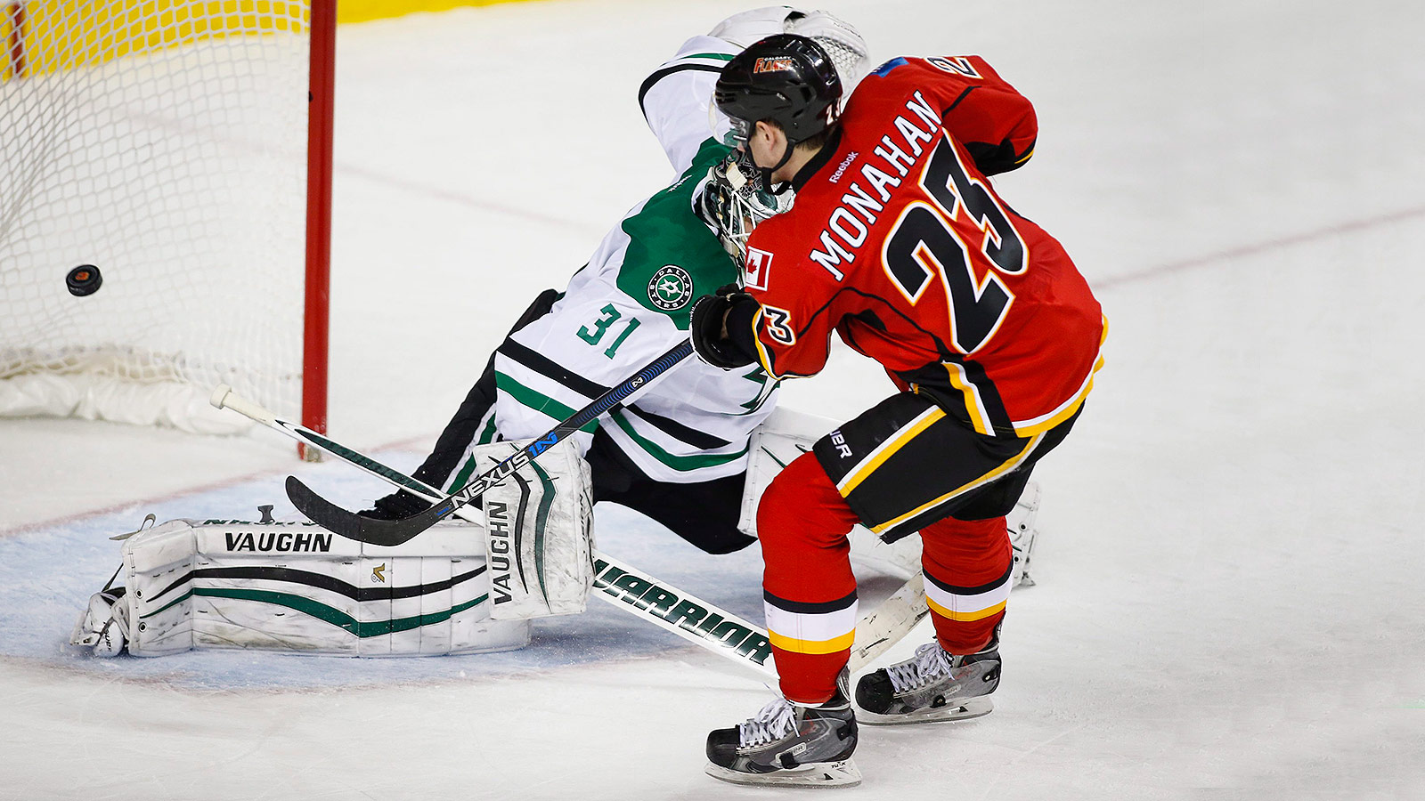 Monahan rallies Flames from 3-0 hole, beats Stars with shootout winner