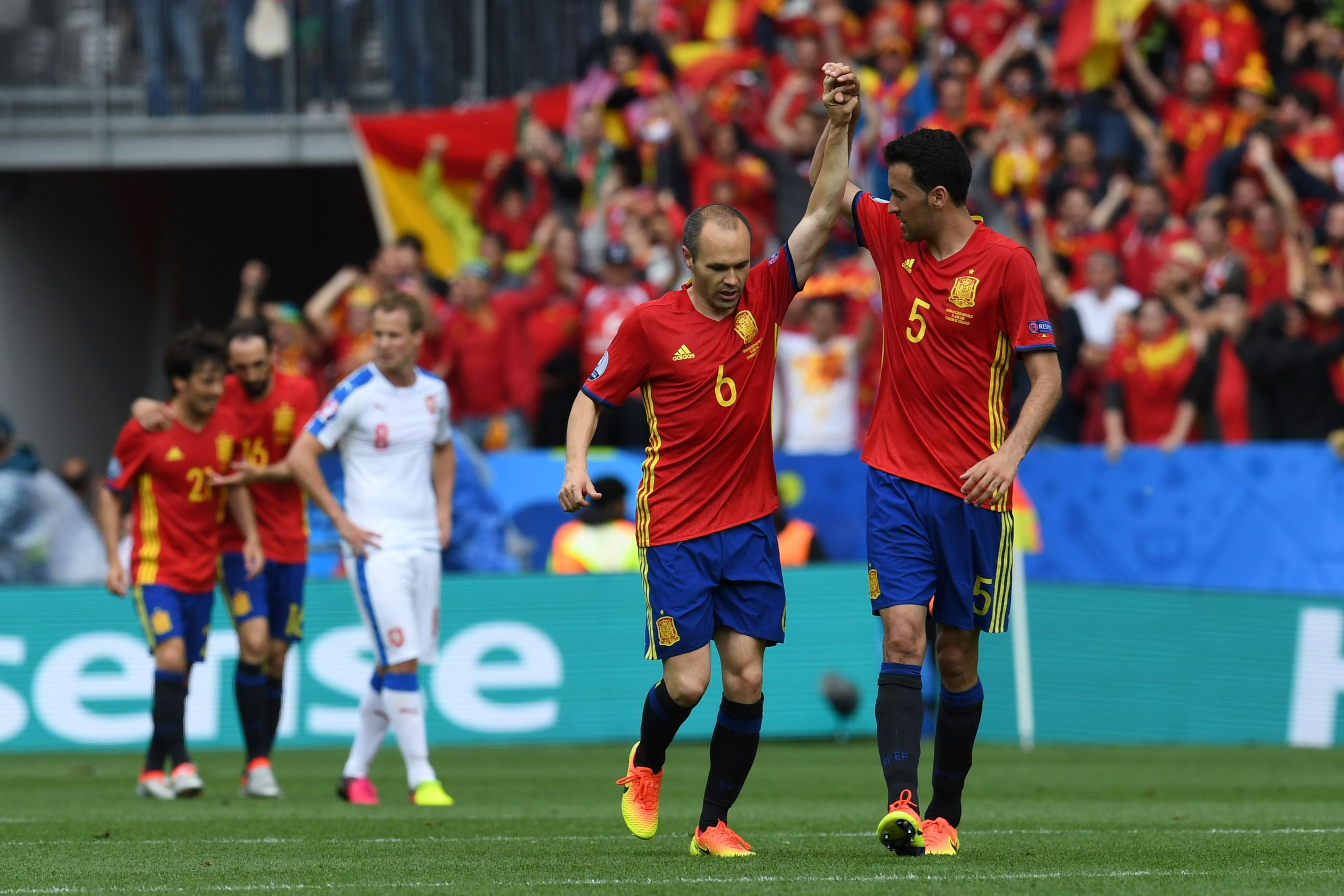Andres Iniesta is the difference for Spain