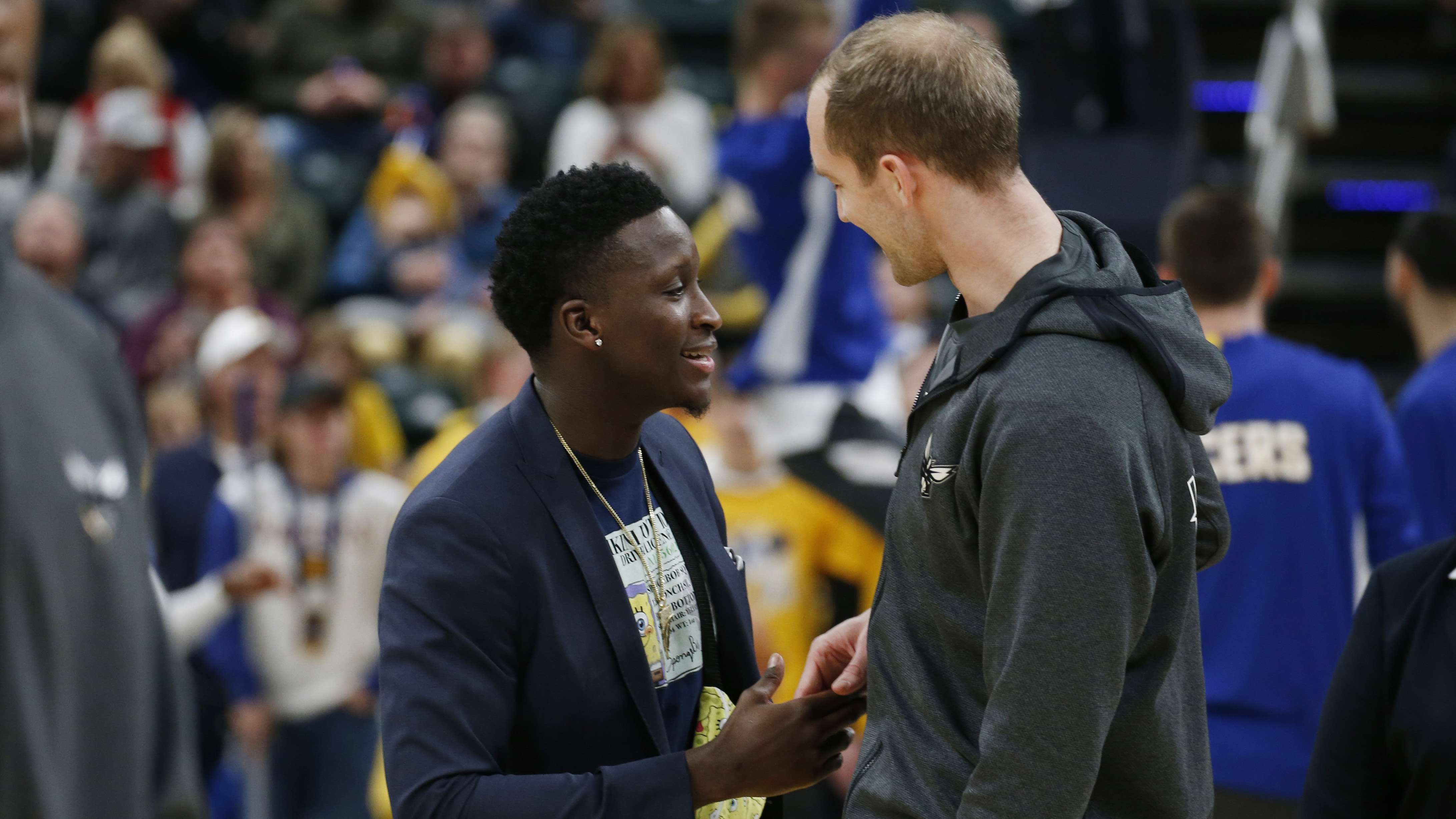 Pacers assign Oladipo to Mad Ants for practice; Johnson, Sampson and Sumner return