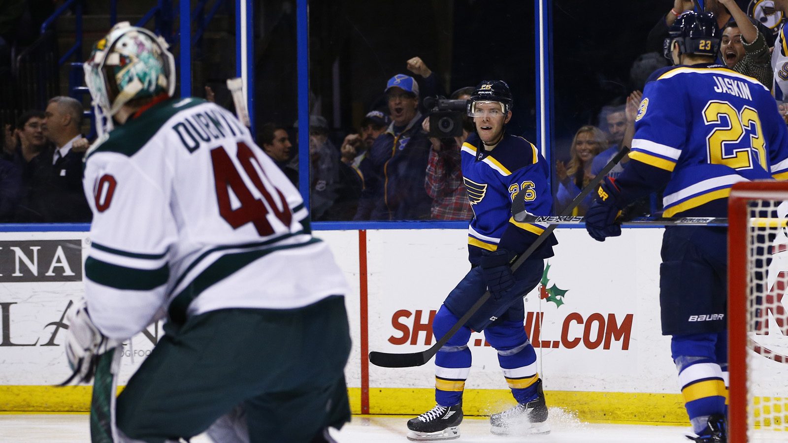 Blues look to continue success against surging Dubnyk
