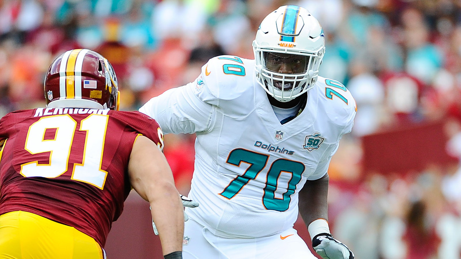 Ja'Wuan James, Earl Mitchell out for Dolphins against Chargers
