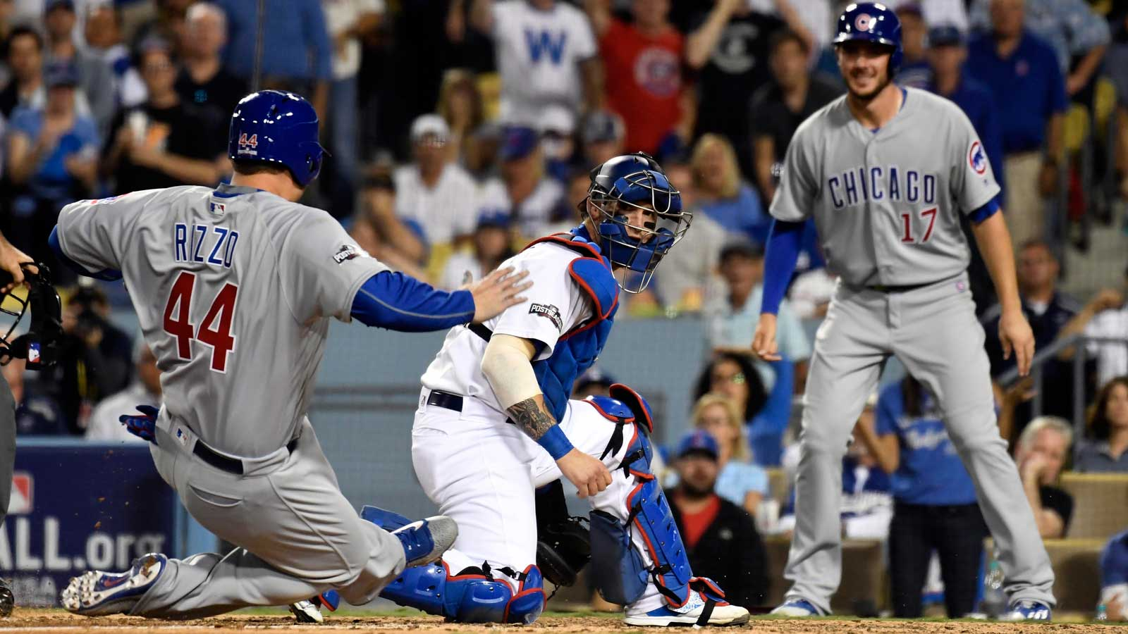 Cubs even NLCS with 10-2 win over Dodgers
