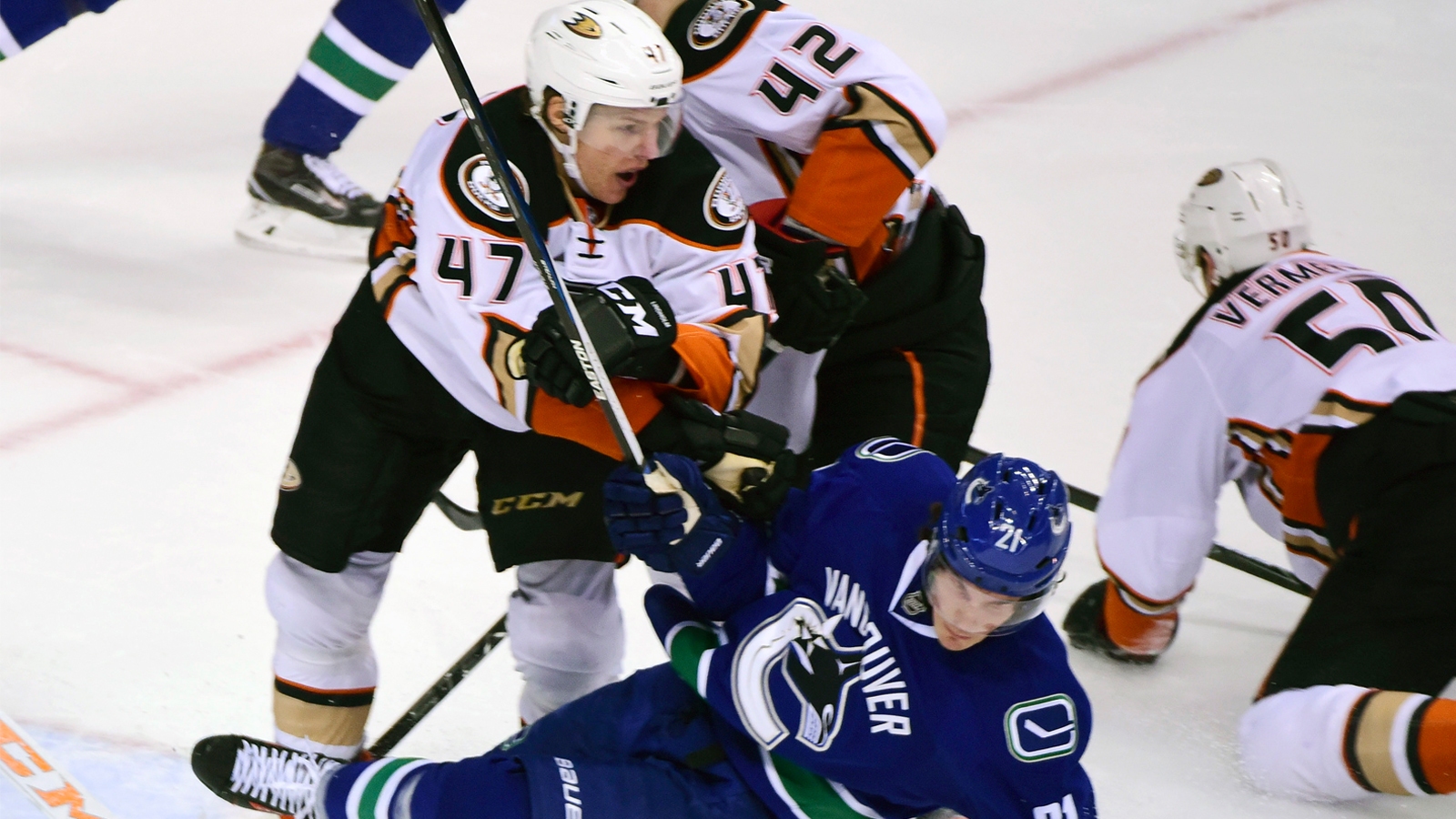 Ducks visit Canucks for second-half push