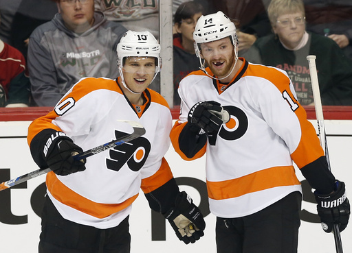 Del Zotto scores 2nd goal in OT to lift Flyers past Wild 4-3