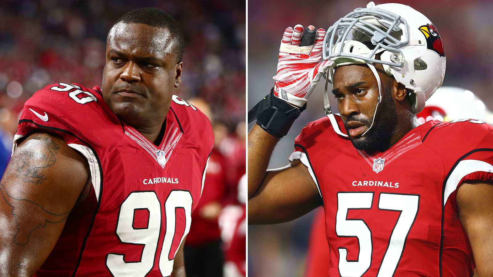 Cardinals without LB Okafor, DT Redding for playoffs