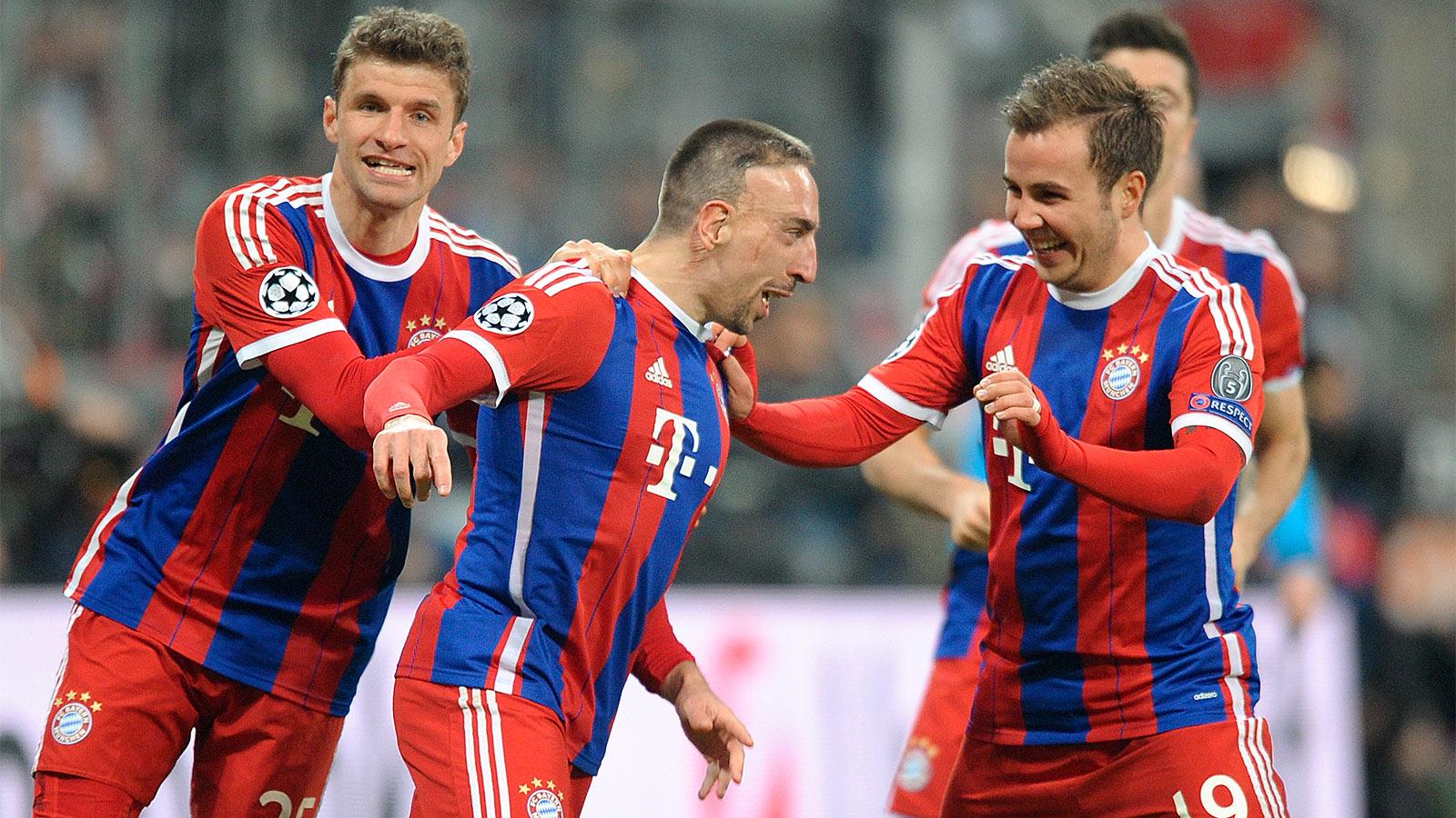 Franck Ribery and Mario Gotze deemed fit for Bayern Munich