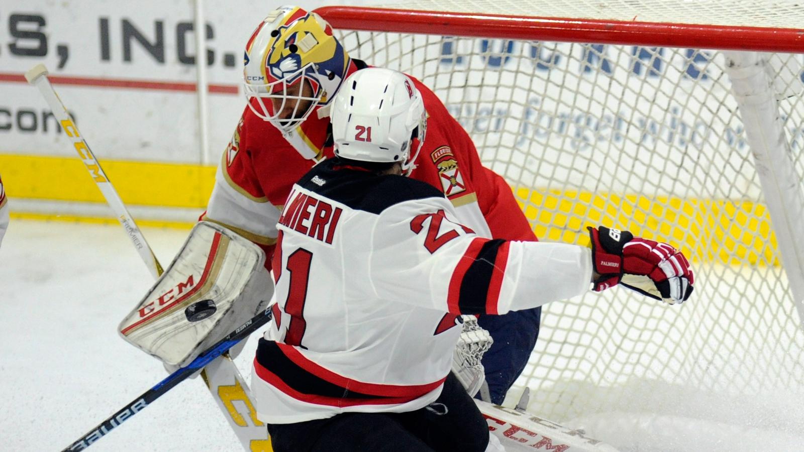 Jonathan Huberdeau injured in Panthers' preseason win over Devils