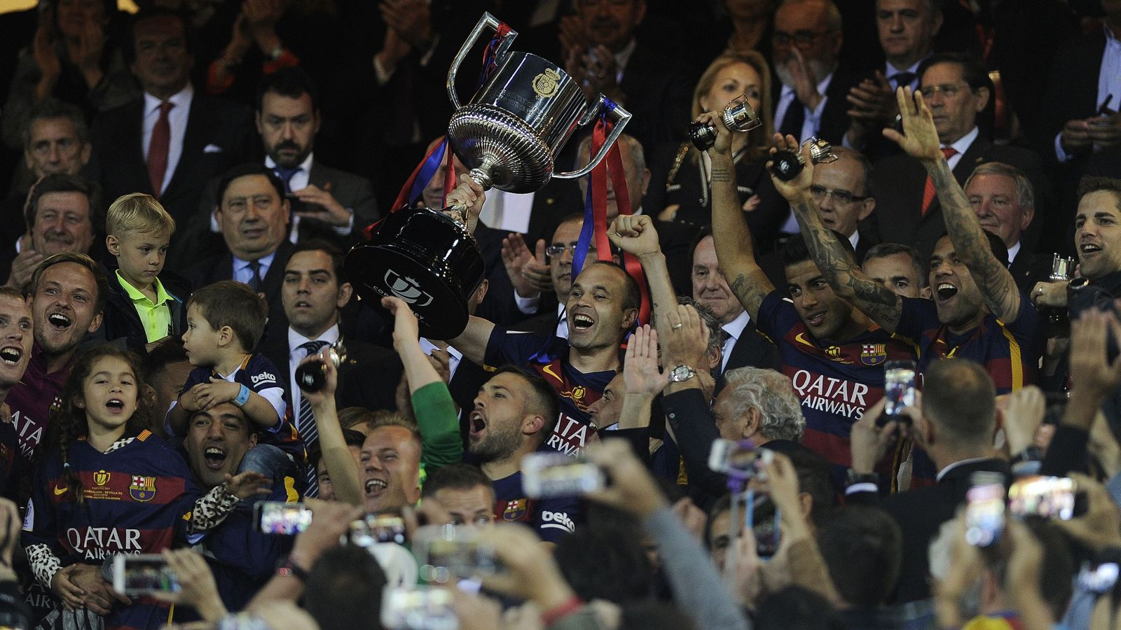 Enrique hails Barca's double-double after Copa del Rey triumph