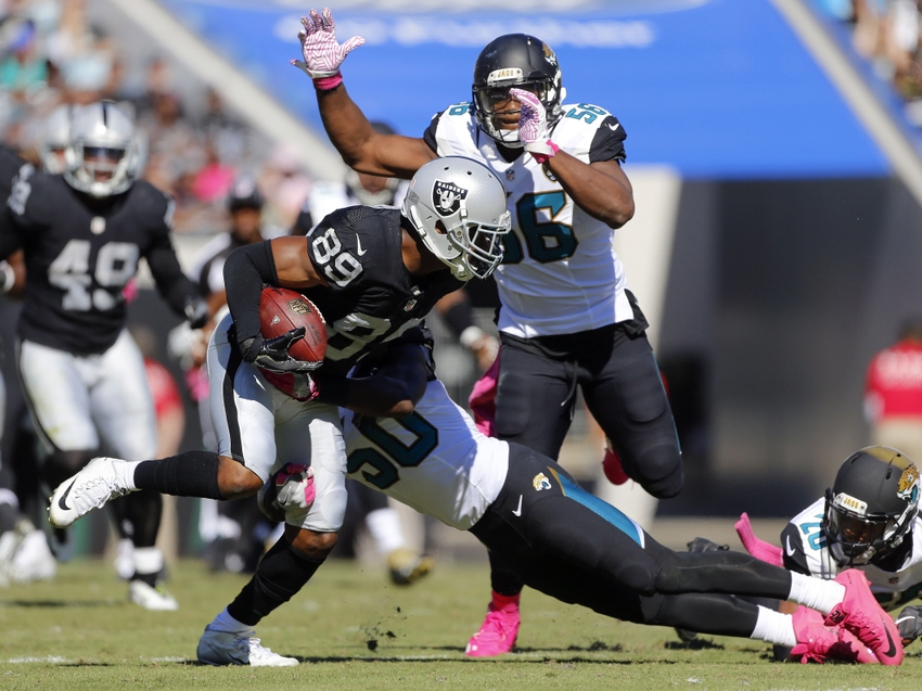 Dante Fowler Jr. and Yannick Ngakoue stymied by Raiders O-Line