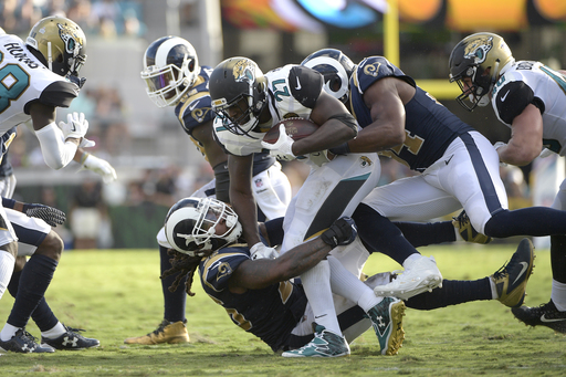 Jaguars' Leonard Fournette questionable with sprained right ankle