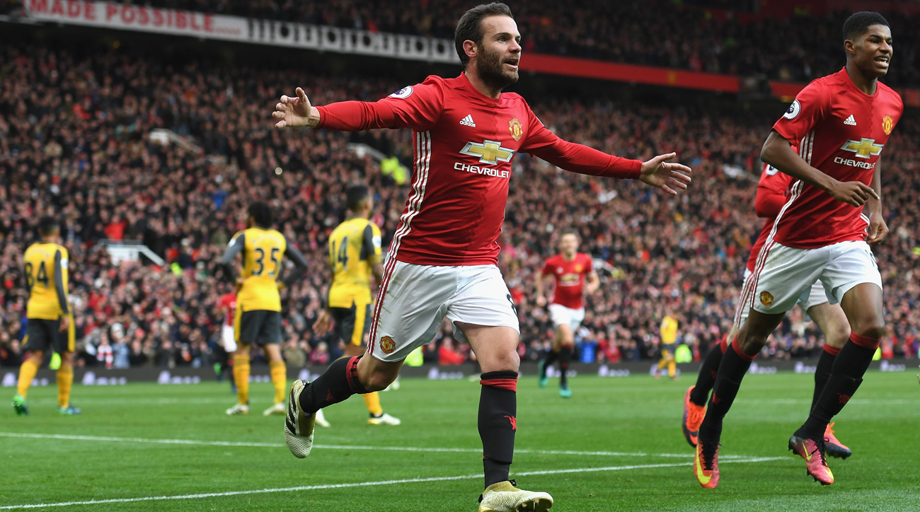 Watch: Juan Mata gives Manchester United lead over Arsenal