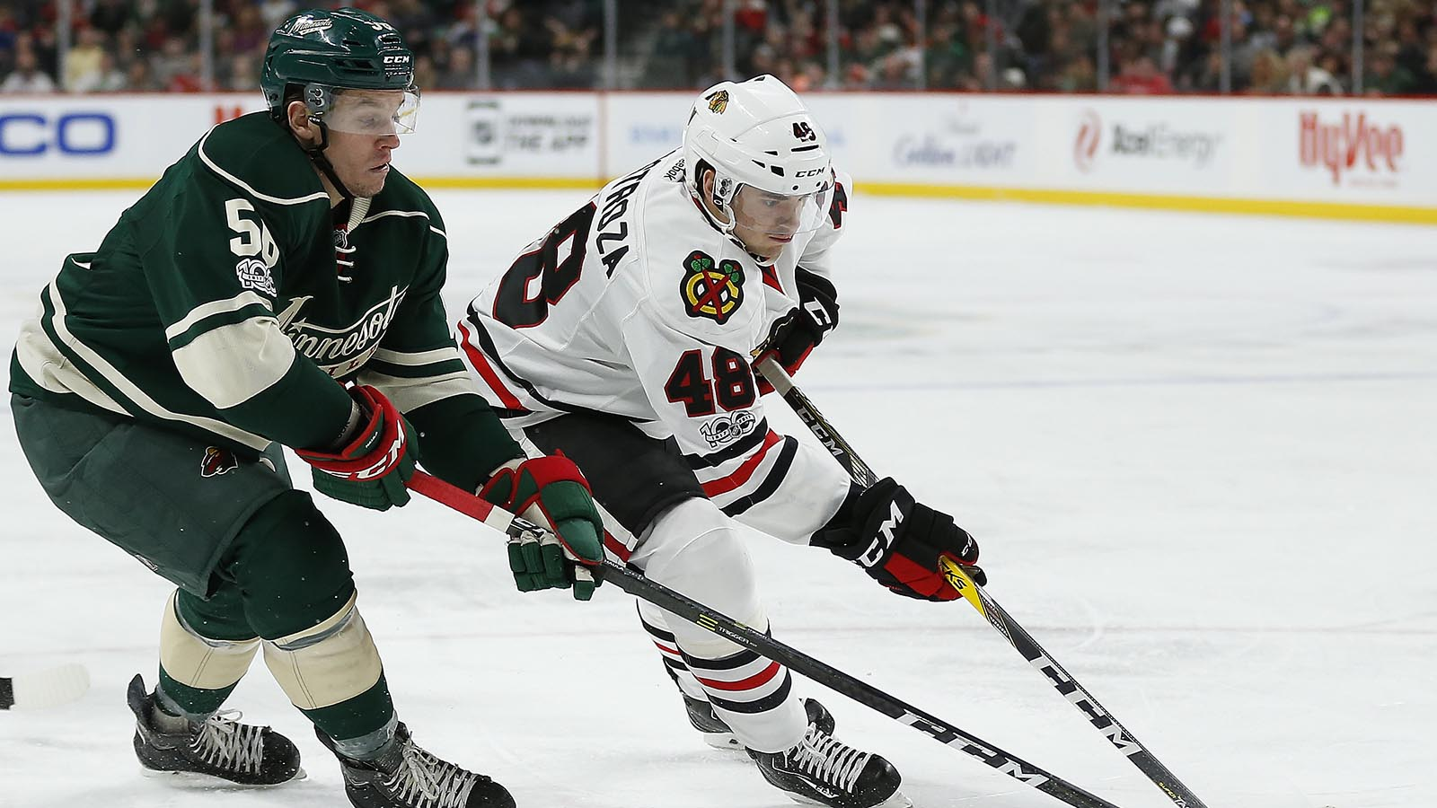 Haula forces overtime, but Wild fall to Chicago