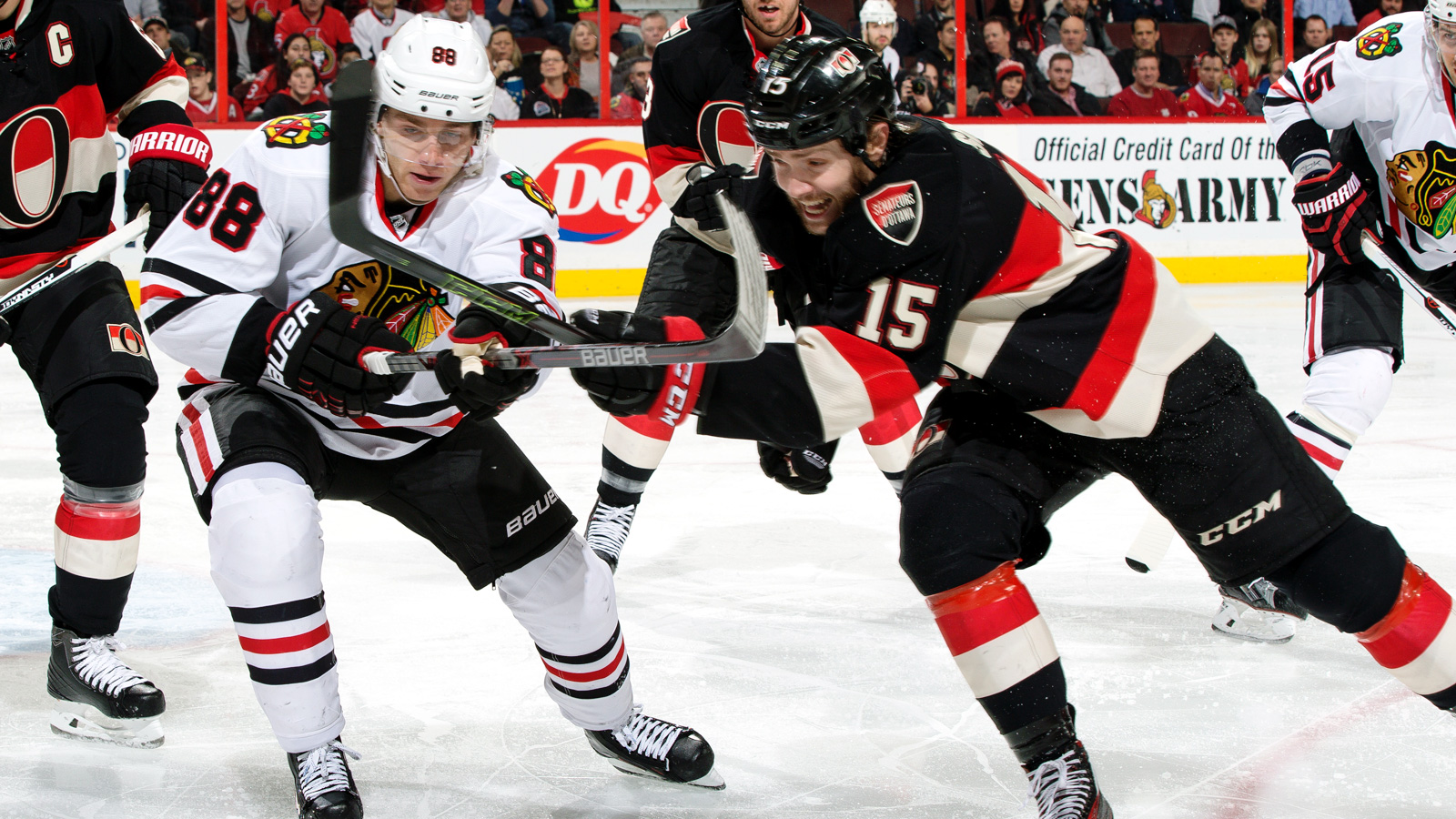 Kane extends point streak to 21 games, but 'Hawks fall to Sens in OT