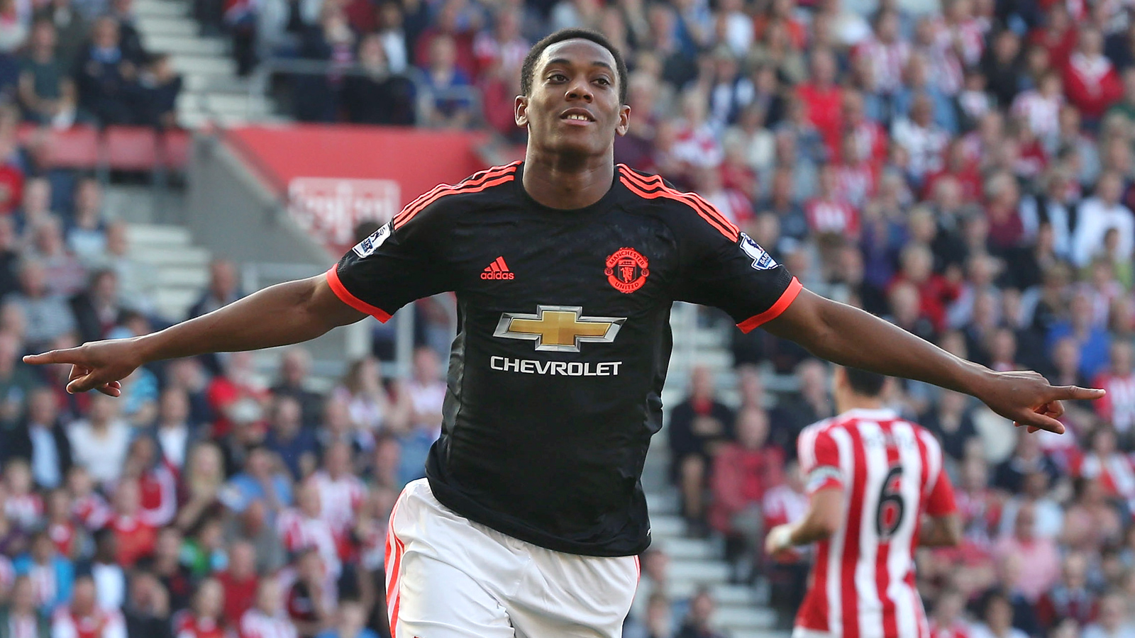 Anthony Martial hits double as United fight off Southampton