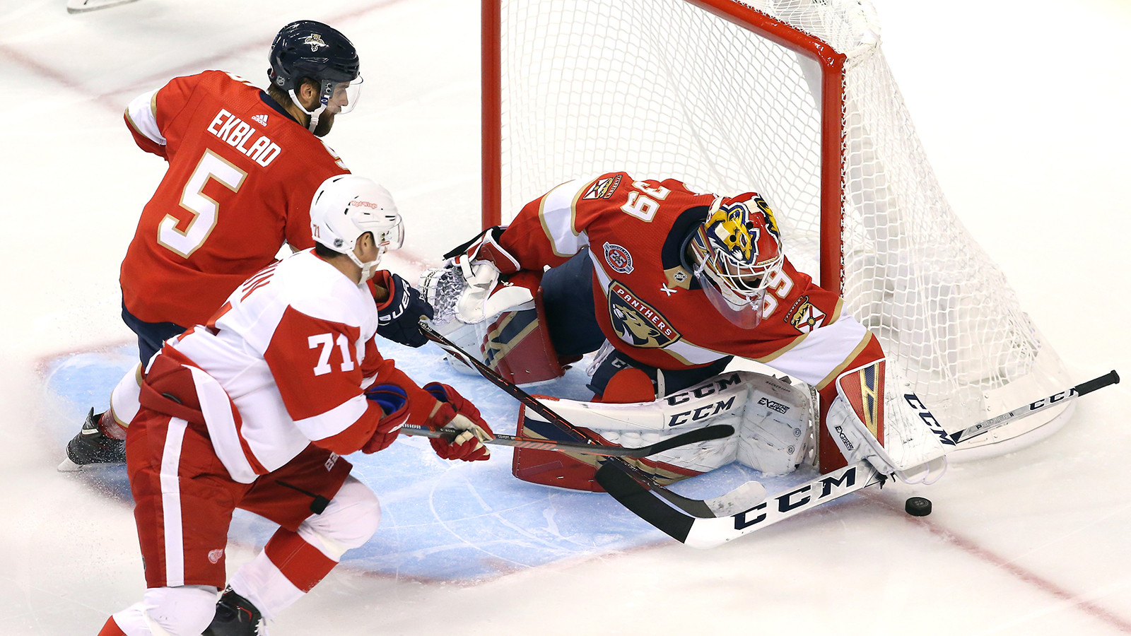 Panthers recall goalie Michael Hutchinson from AHL Springfield on emergency basis