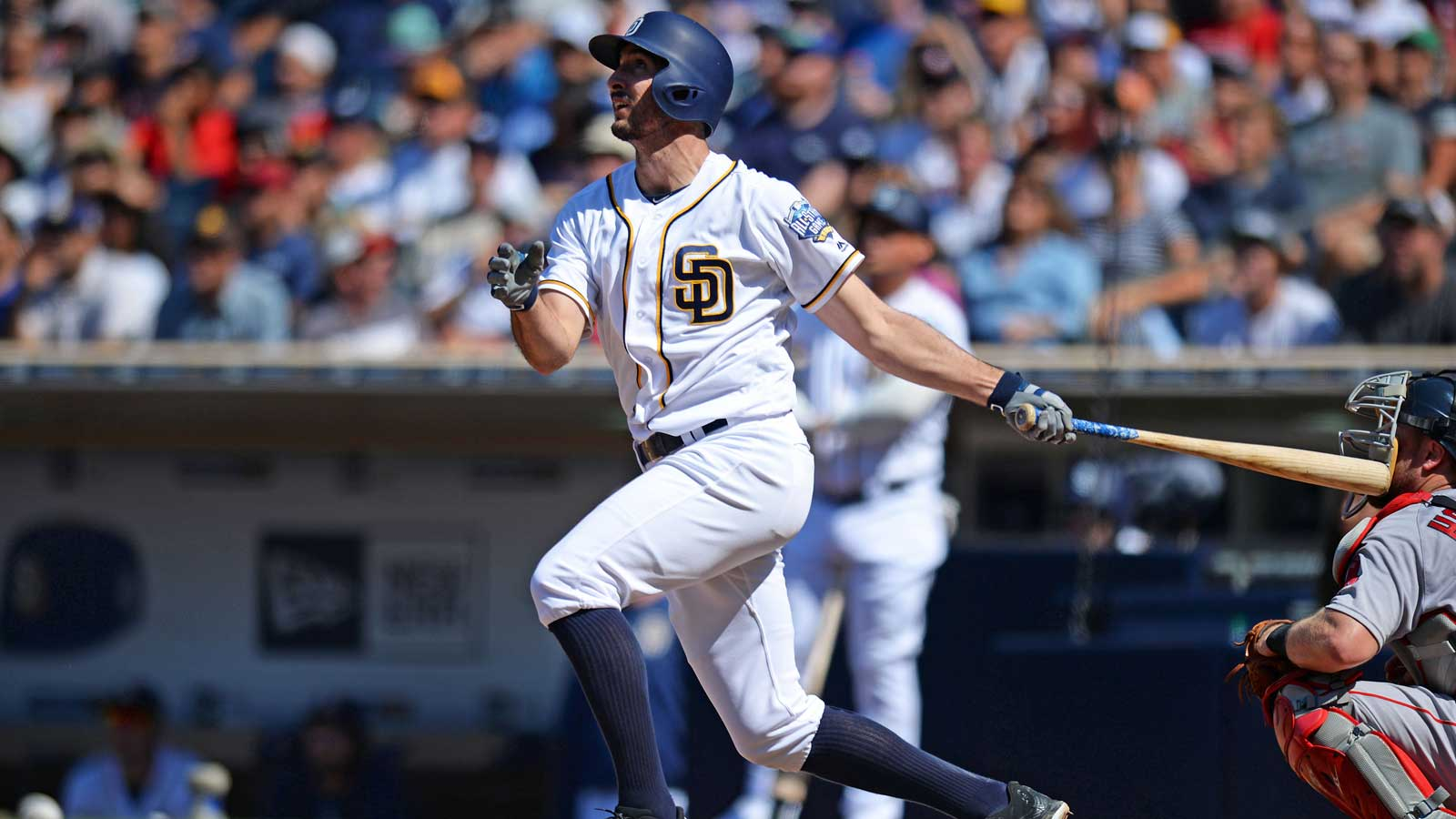 Jackson strikes out 11, pitches Padres over Red Sox