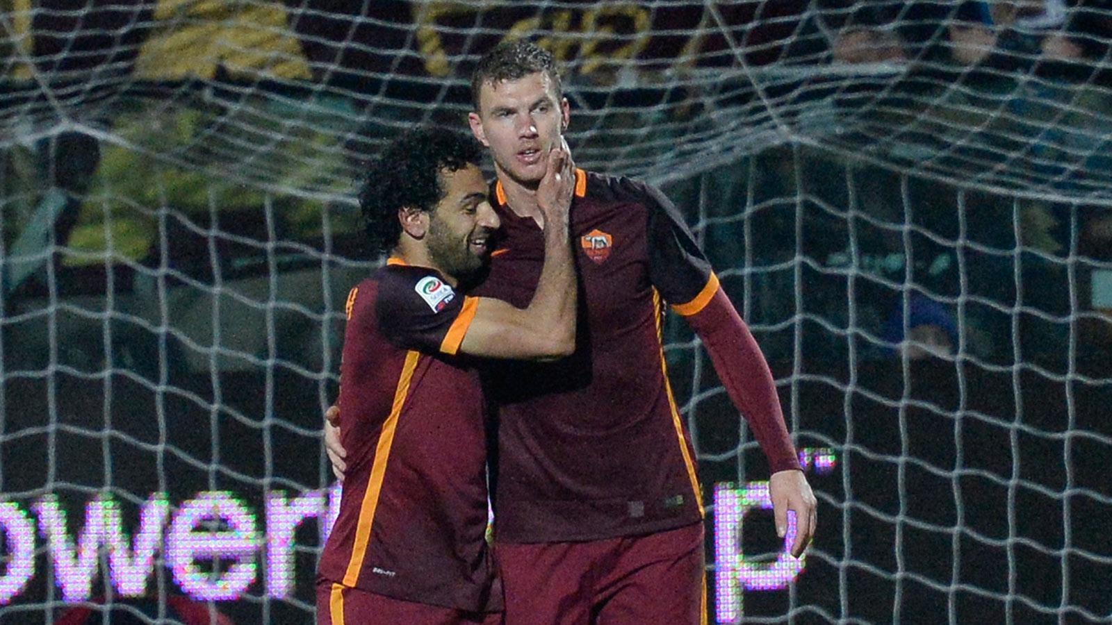Edin Dzeko ends scoring drought as Roma knock off Carpi