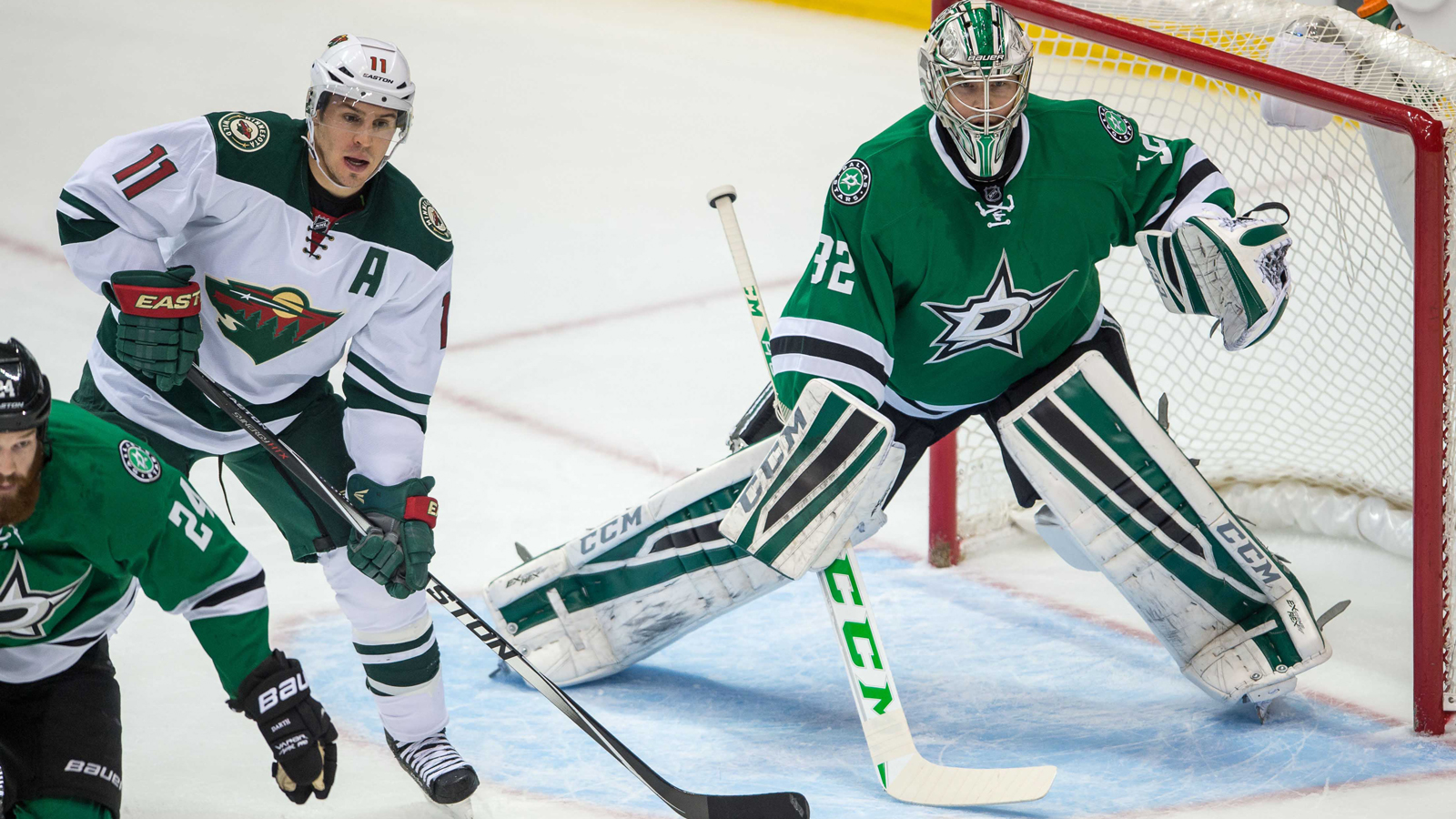 Parise, Vanek out for Wild, Stars' Seguin likely to miss Game 4