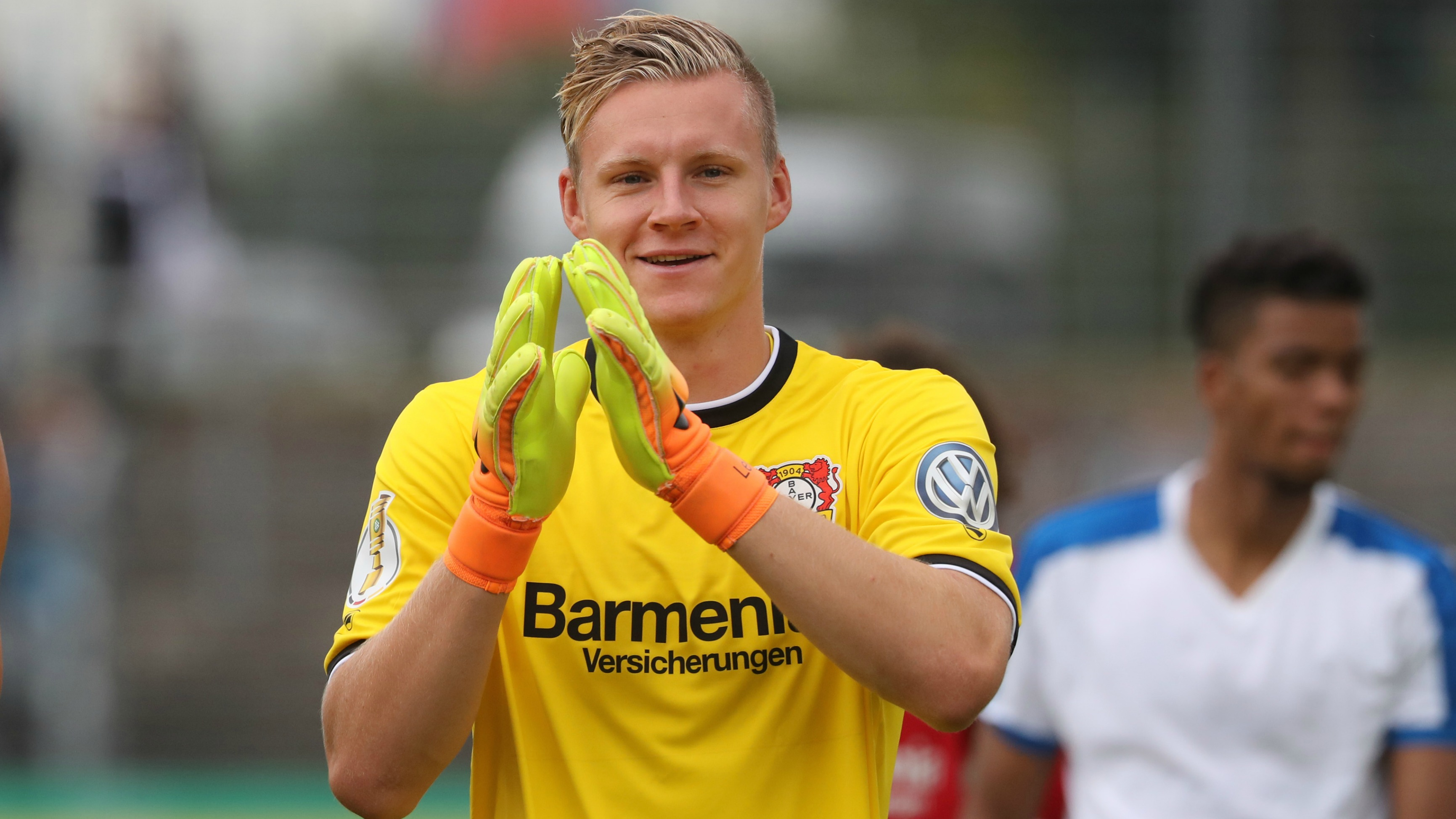 Leverkusen's Bernd Leno made two ridiculous saves with his face
