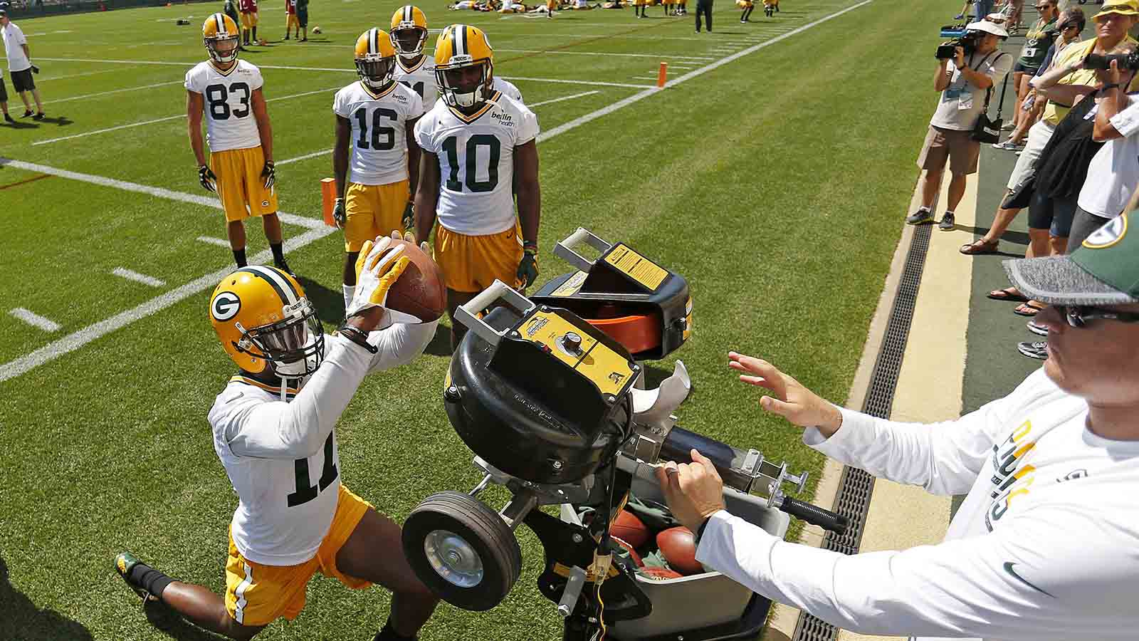 Rodgers enjoying watching competition among Packers' young receivers