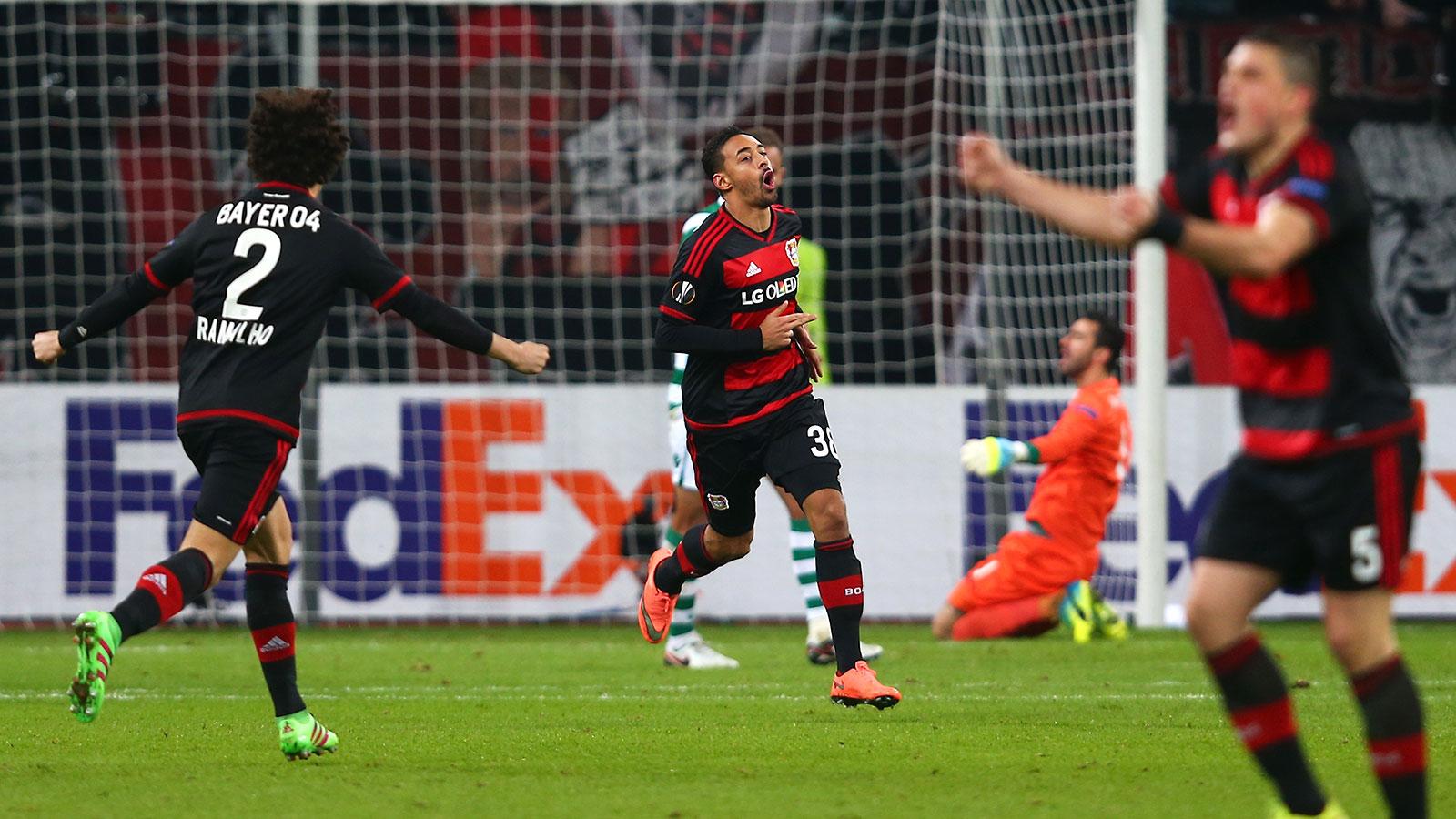 Bayer Leverkusen's Karim Bellarabi scores preposterous 30-yard wonder goal