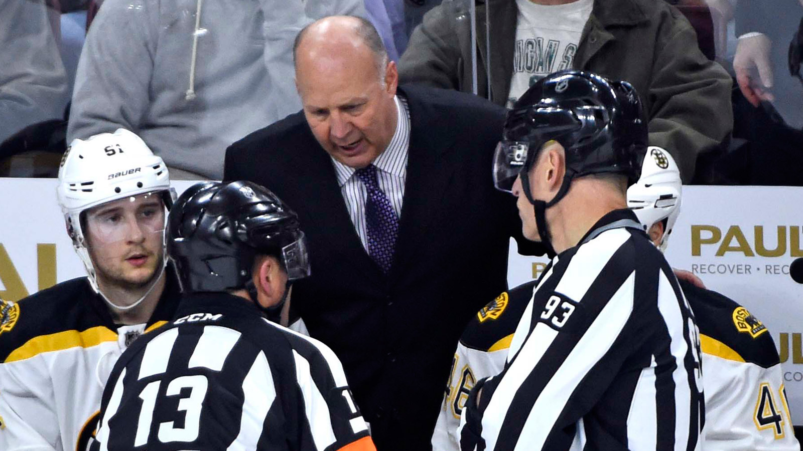 Bruins coach Claude Julien rages against NHL replay system after controversial call