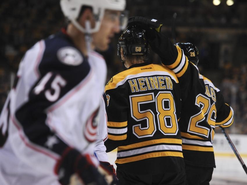 Boston Bruins: Danton Heinen Shining in Preseason