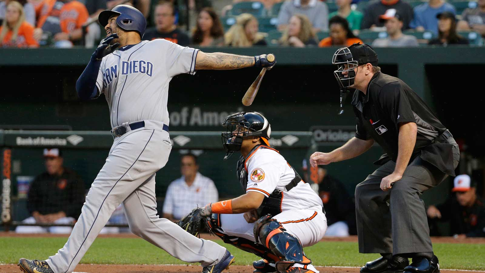 Kemp has 4 hits as Padres rally past Orioles 10-7