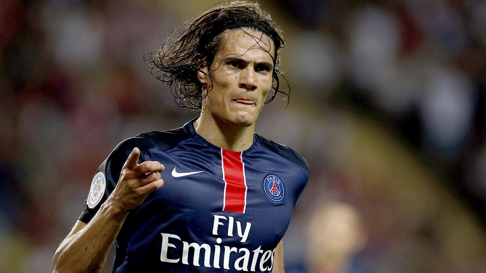 Paris Saint-Germain beat Monaco with brace from Edinson Cavani