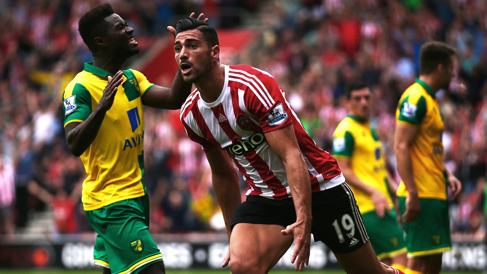 Pelle, Tadic guide Southampton past helpless Norwich