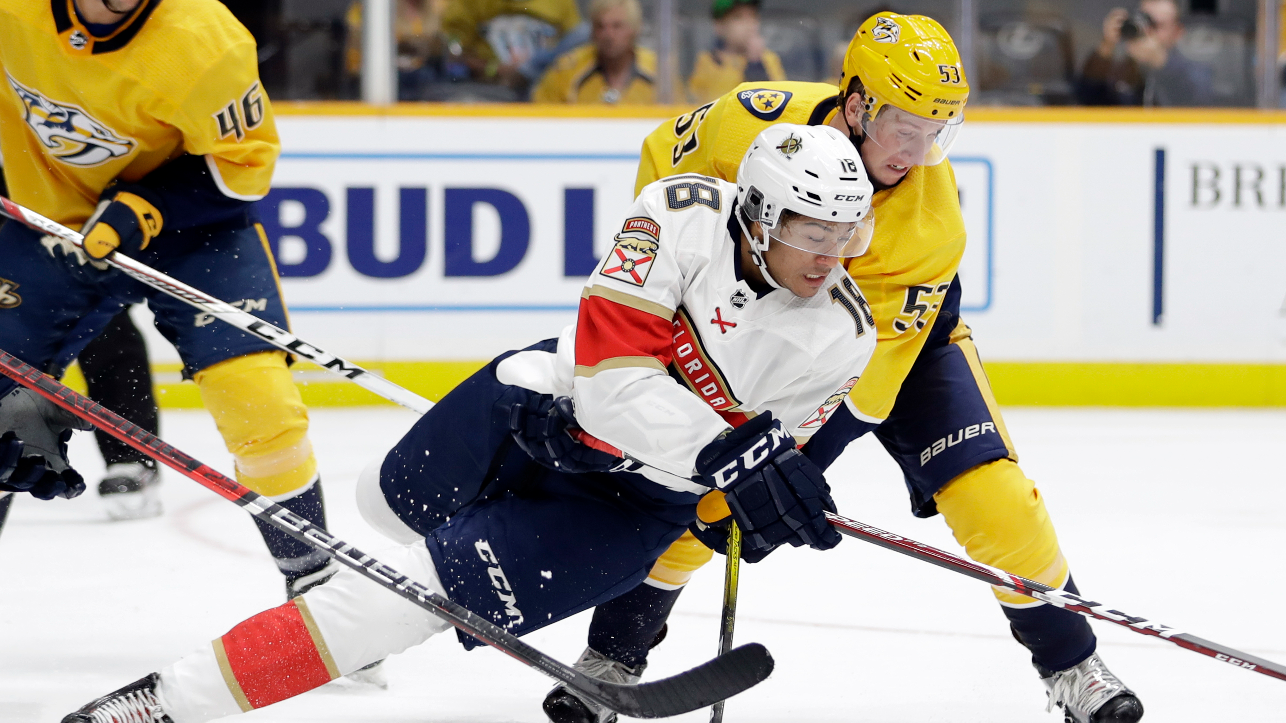 NHL Preseason: Brett Connolly starts strong, but Panthers drop both in doubleheader with Predators