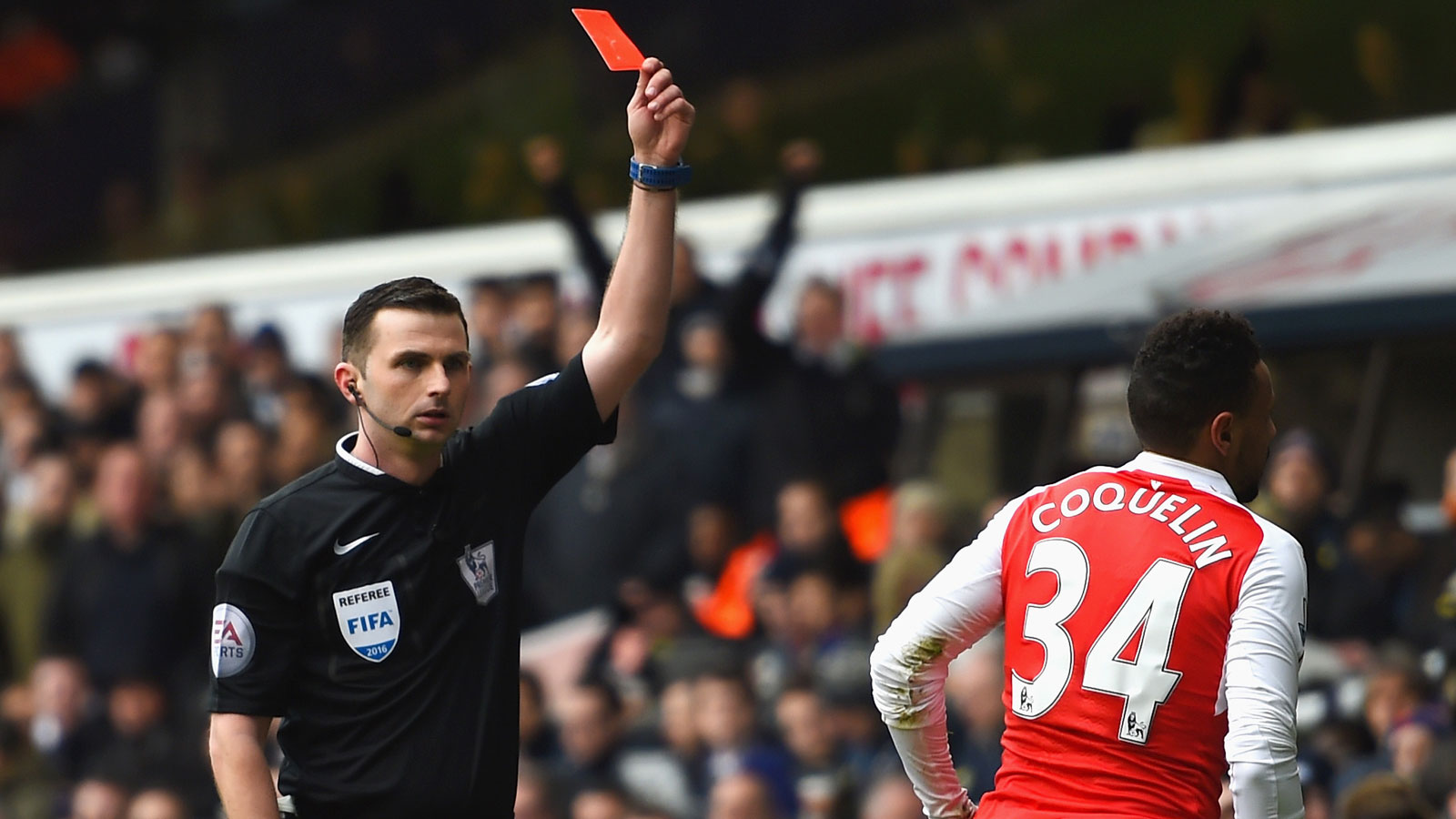 Coquelin apologizes to Arsenal fans after Spurs sending off