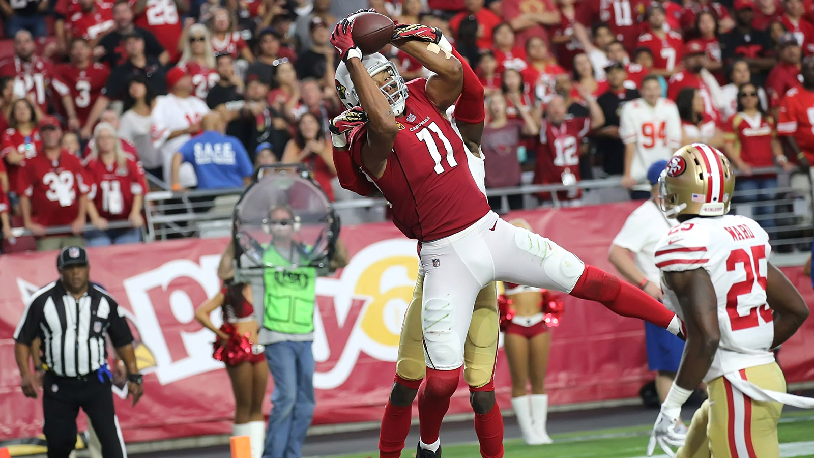Cardinals survive winless 49ers on Fitzgerald's OT TD catch