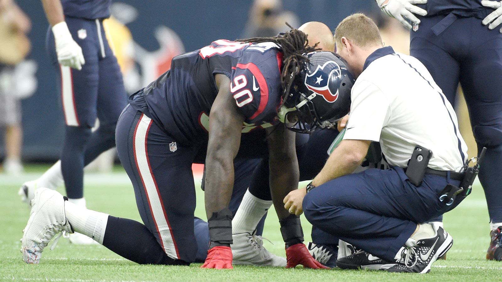 Houston sees progress from Clowney amid injuries