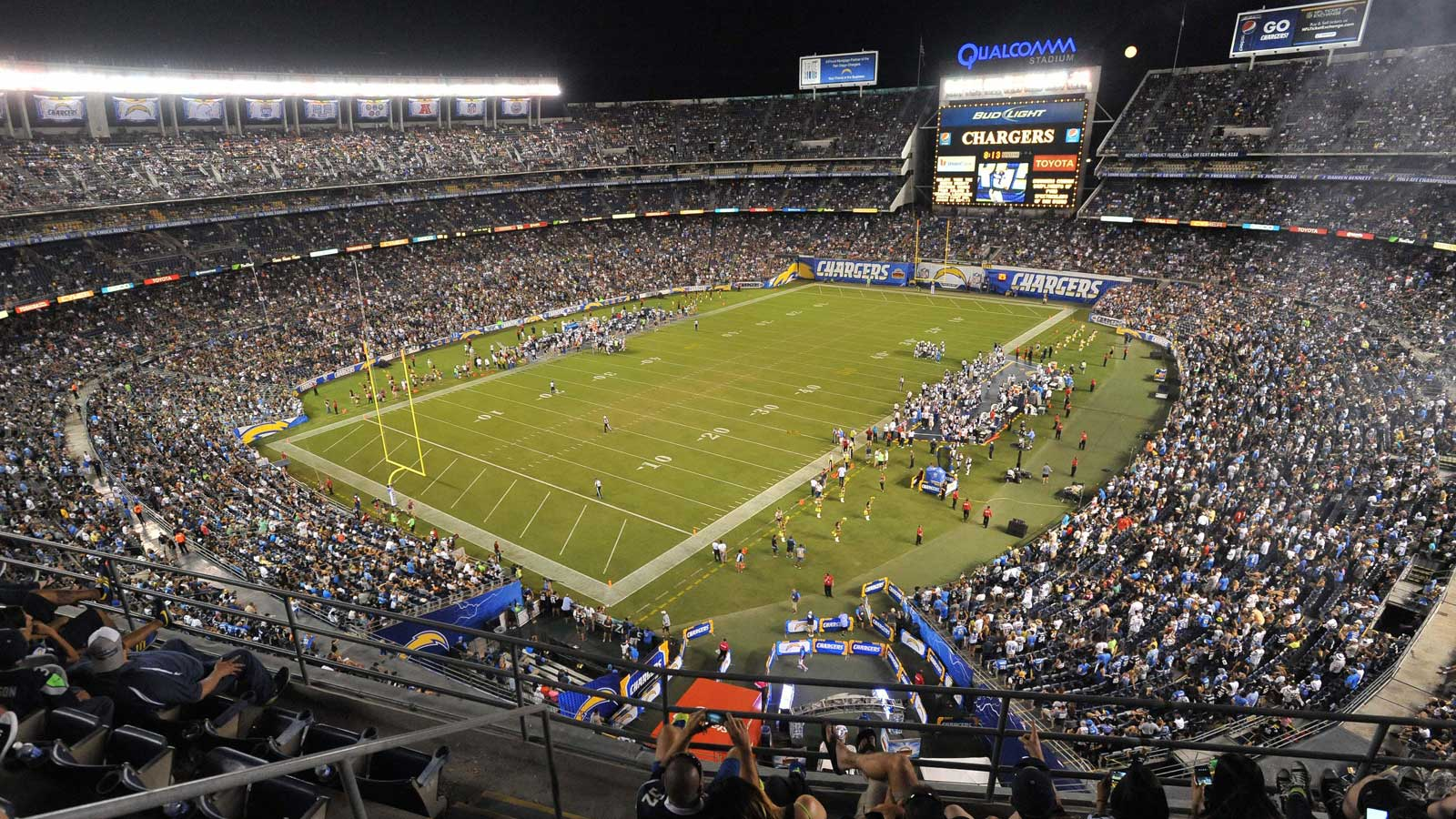 Stadium toxicity makes way for football as Chargers host Lions