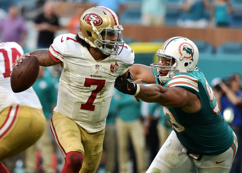 """Bad Blood"" between the Dolphins' Kiko Alonso and 49ers' Kaepernick"