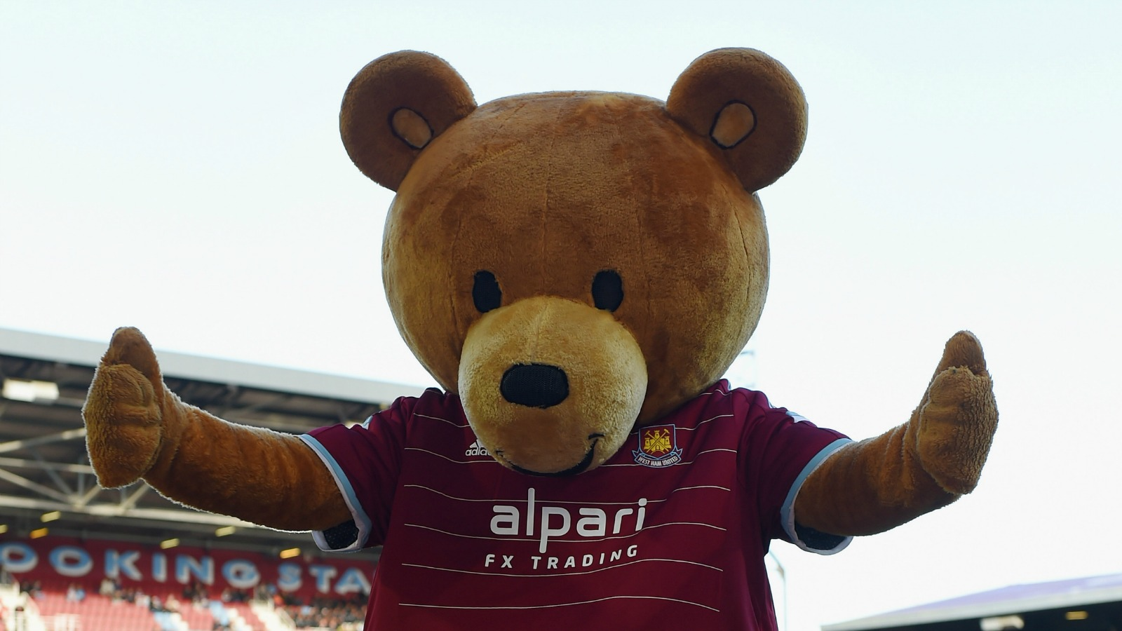 Arsenal fan takes out frustration by berating West Ham teddy bear mascot