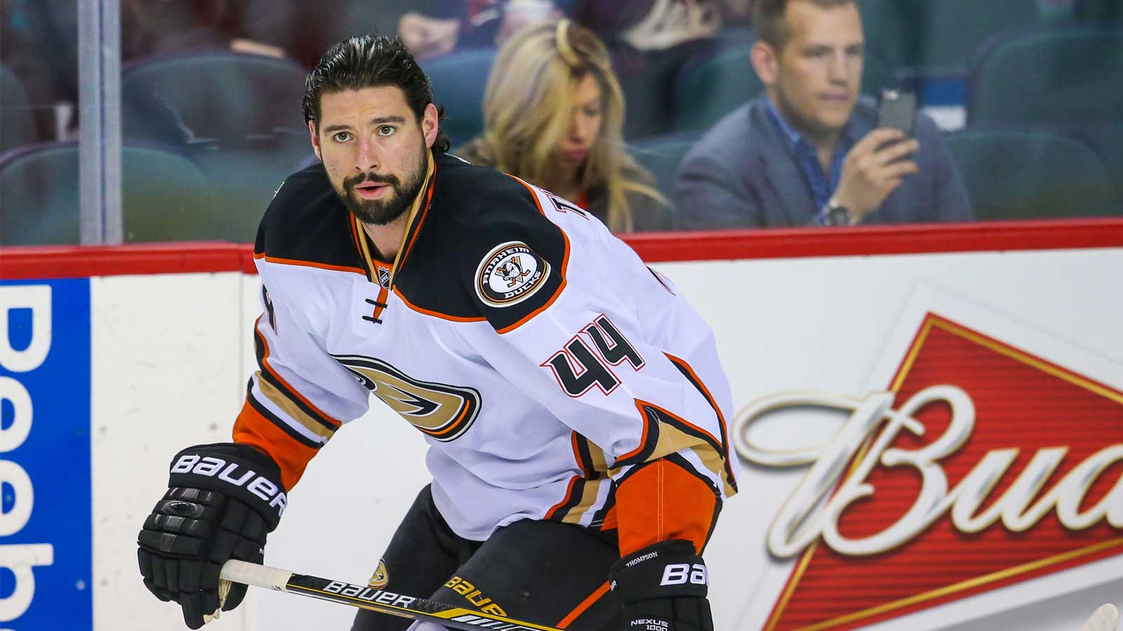 Ducks F Nate Thompson suspended 3 games for illegal check
