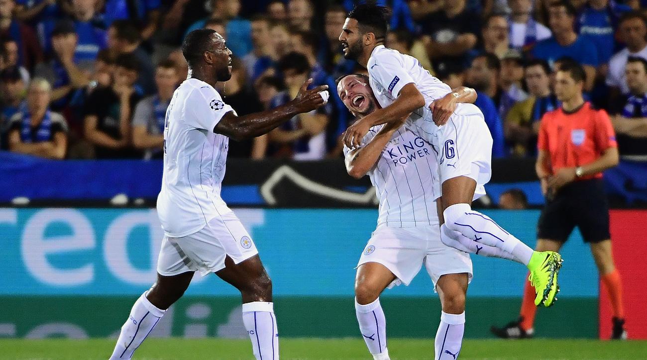 Watch: Riyad Mahrez's gorgeous Champions League free kick for Leicester City
