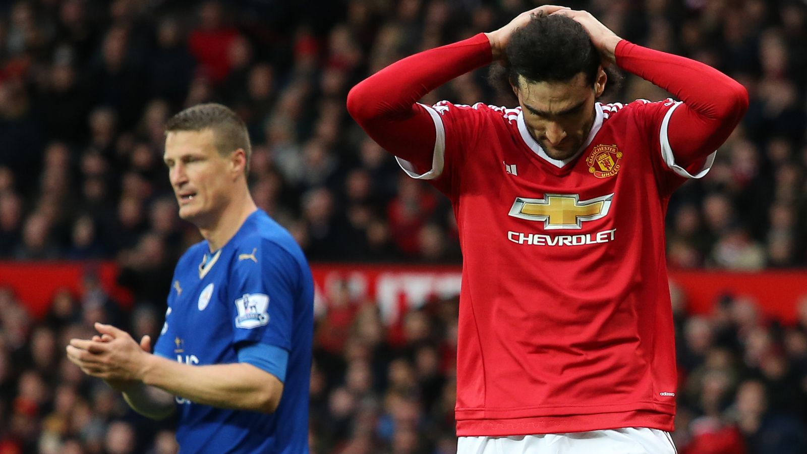 Fellaini, Huth charged after clashing during EPL game