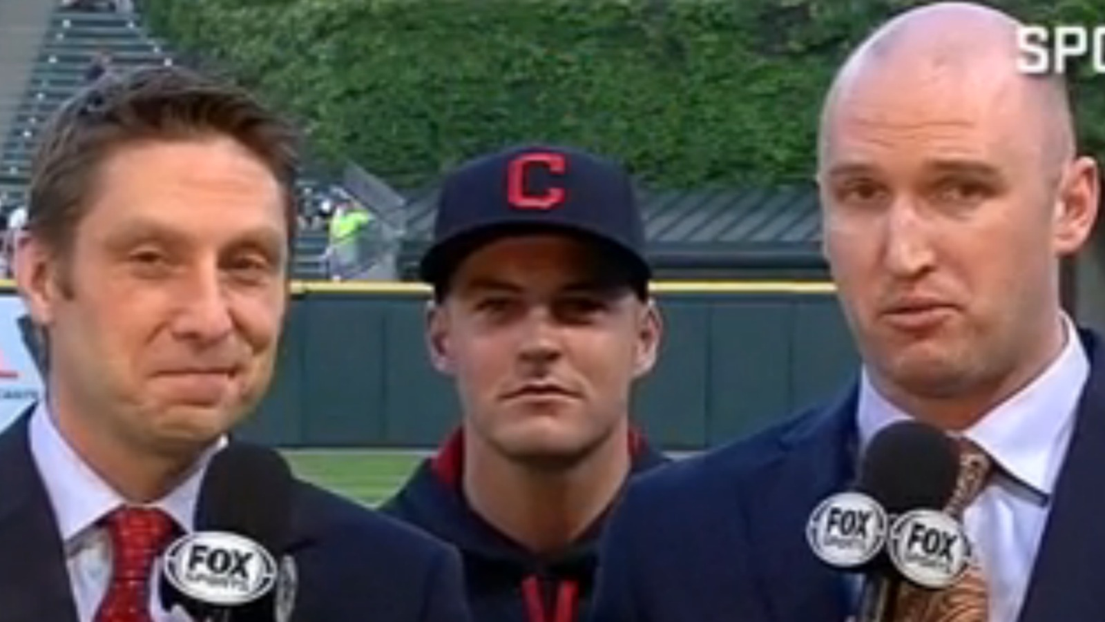 Indians pitcher Trevor Bauer has mastered the art of live TV videobombs