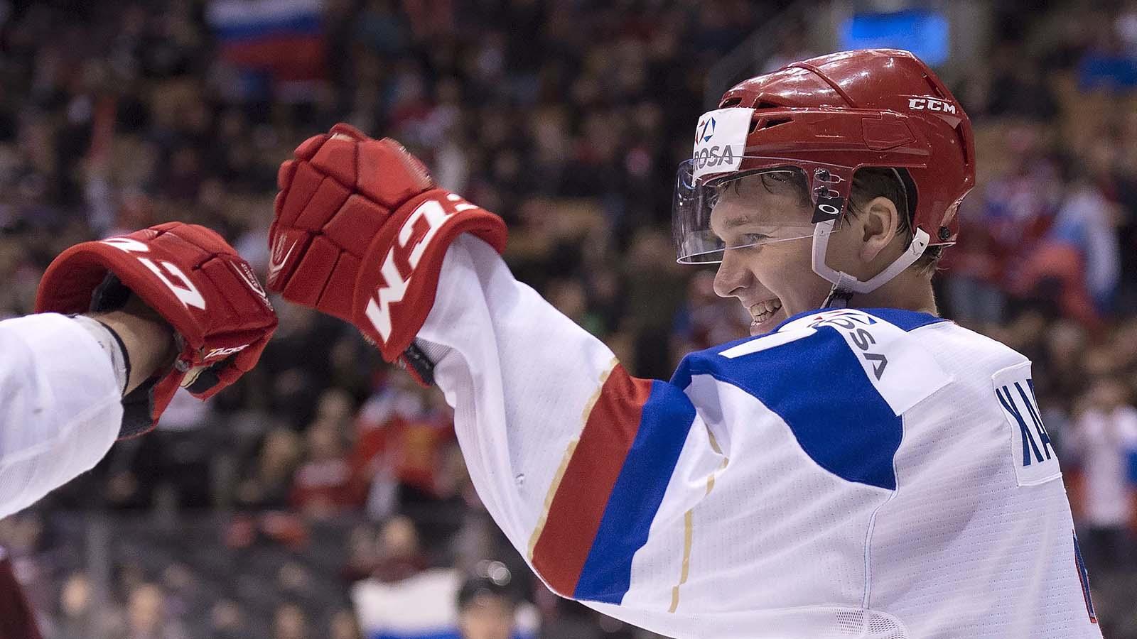 Wild prospect Kaprizov showing off at world juniors