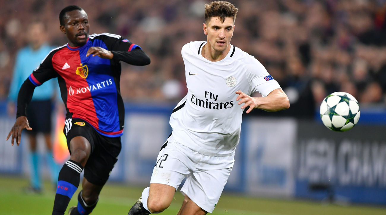 Watch: PSG beats Basel in Champions League on Meunier's absurd volley