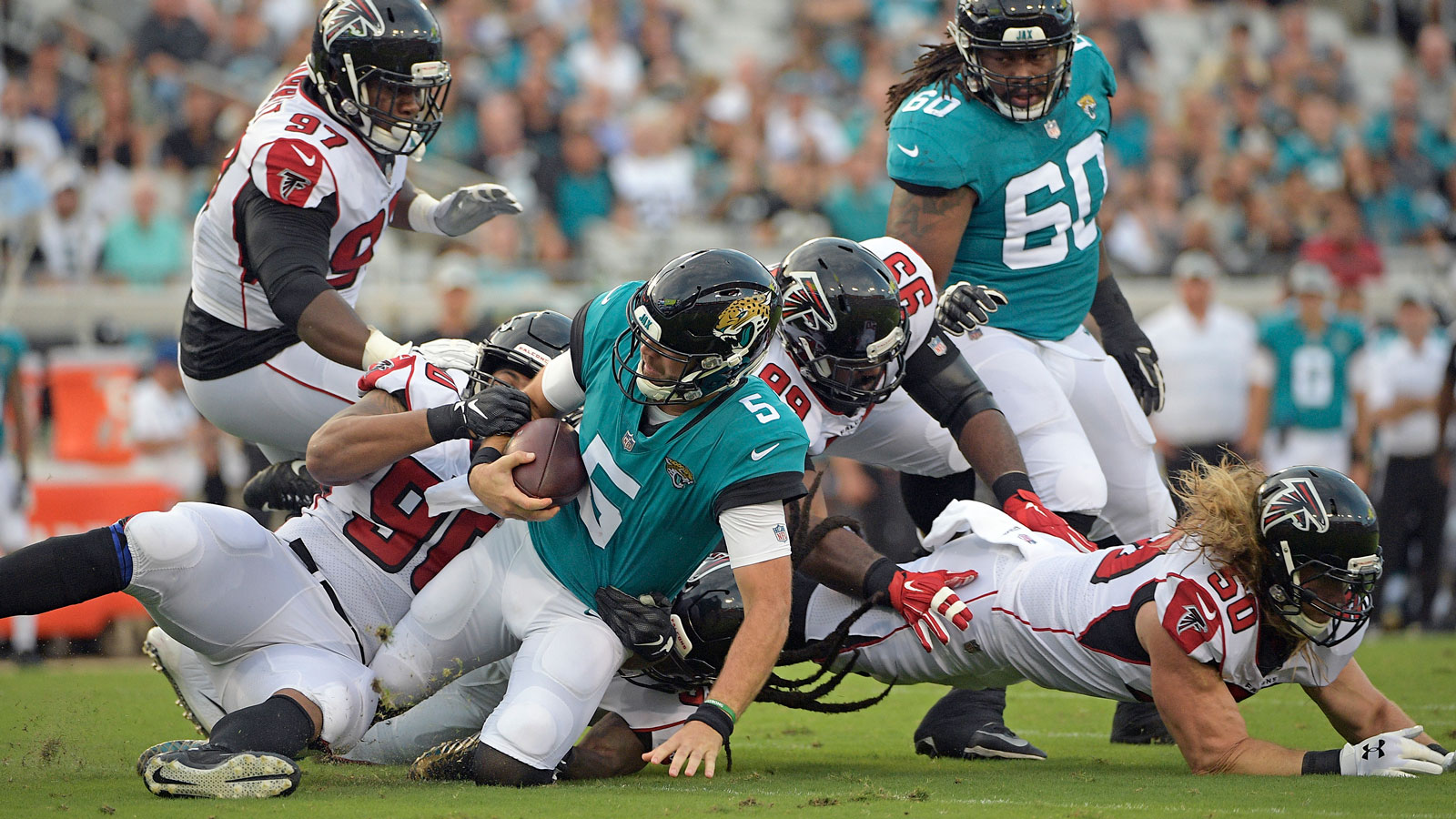 NFL preseason: Jaguars' win over Falcons overshadowed by knee injury to Marqise Lee