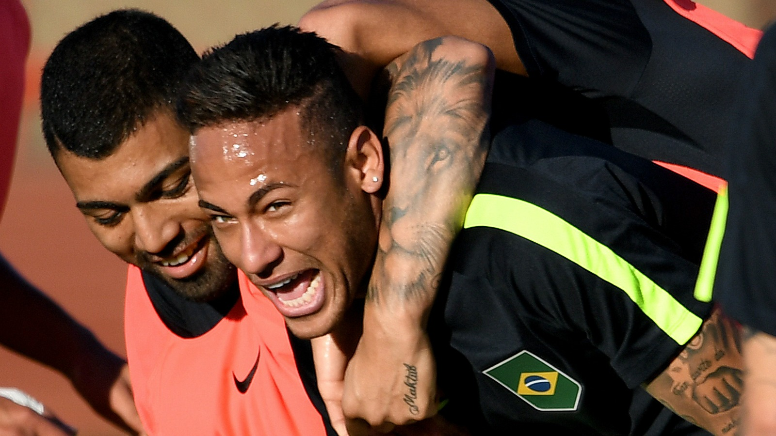 Brazil teammates Neymar and Gabriel Jesus reveal matching tattoos