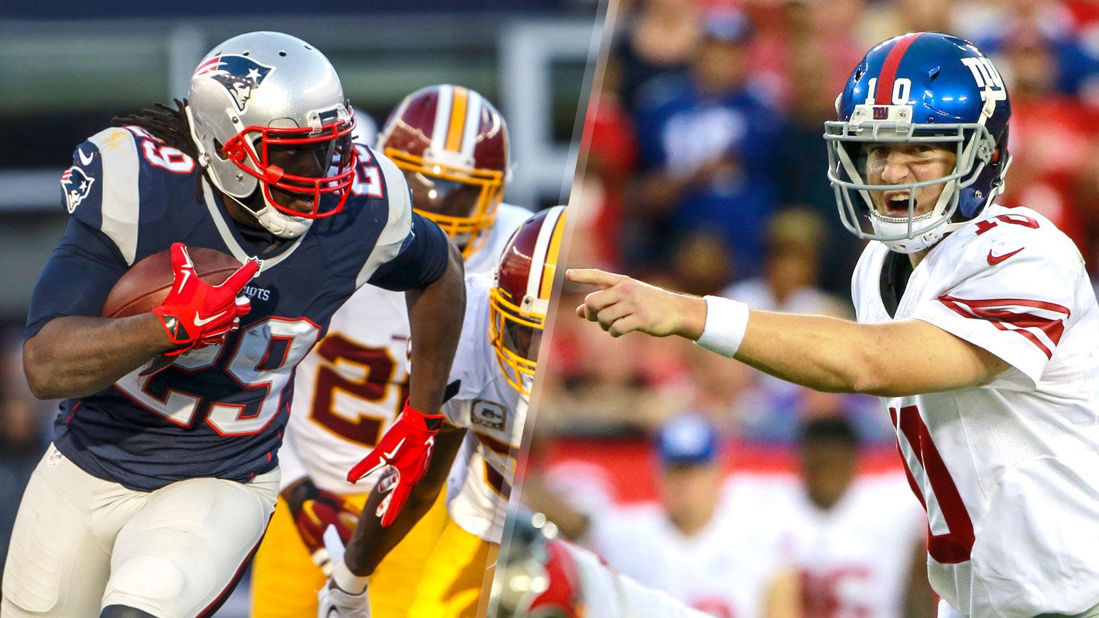 Six Points: Patriots vs. Giants